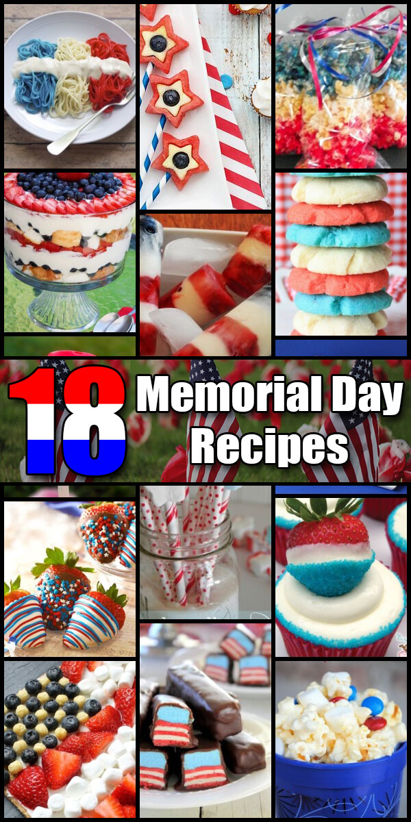 18 Patriotic Memorial Day Recipes - Holiday Vault #MemorialDay