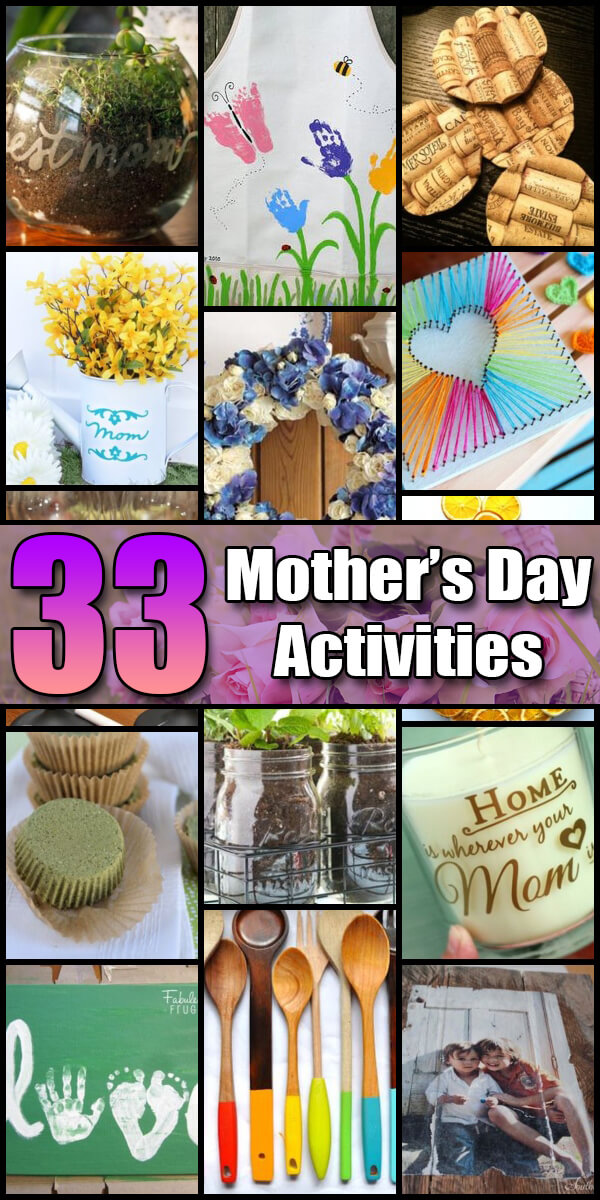 33 Fun Mother's Day Activities for Kids - Holiday Vault #MothersDay