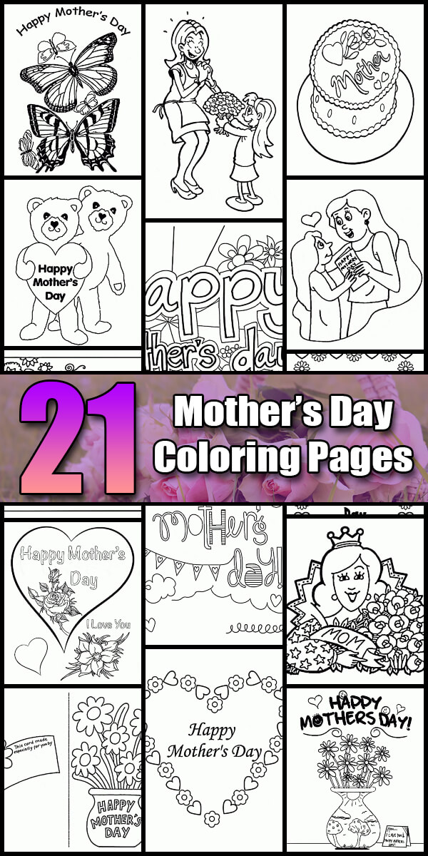 21 Printable Mother's Day Coloring Pages - Holiday Vault #MothersDay