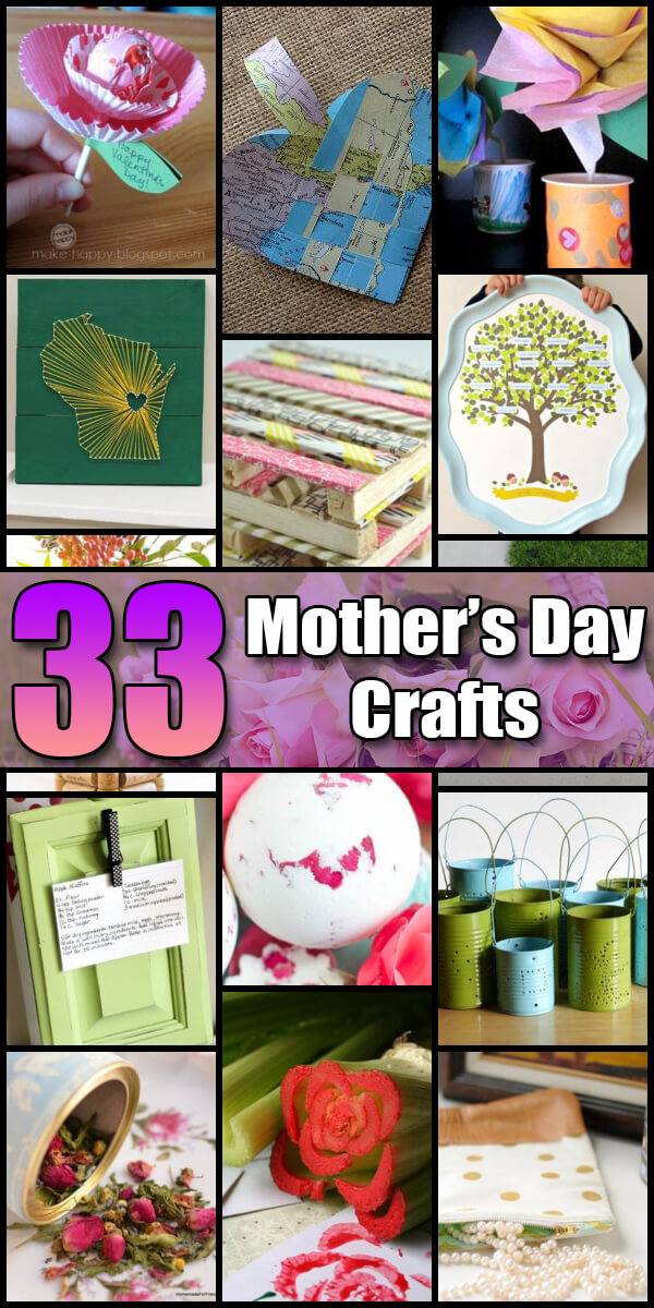33 Fun Mother's Day Crafts for Kids - Holiday Vault #MothersDay