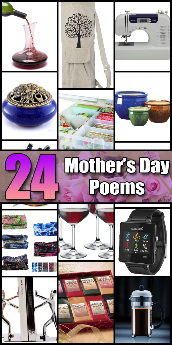 24 Sentimental Mother's Day Poems - Holiday Vault #MothersDay