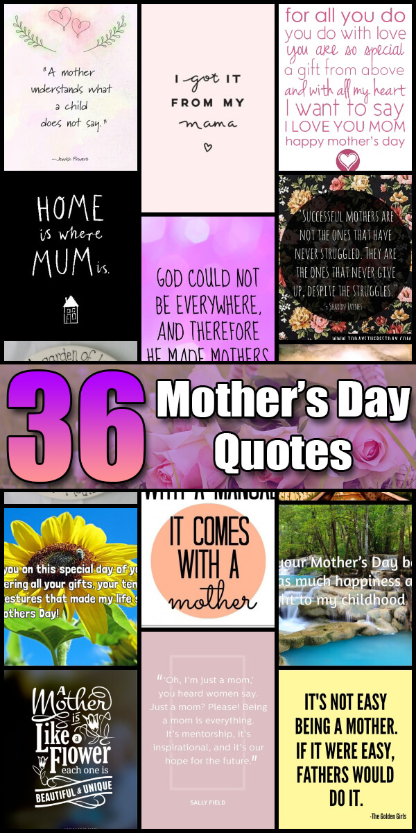 36 Heartwarming Mother's Day Quotes - Holiday Vault #MothersDay
