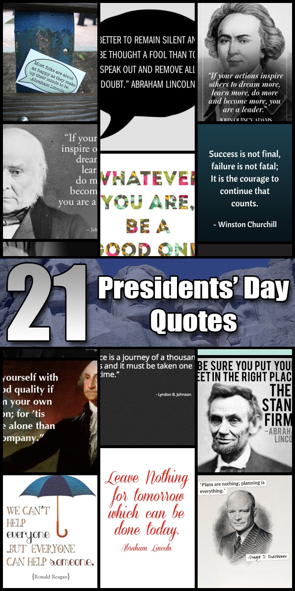 21 Presidents' Day Quotes - Holiday Vault #PresidentsDay