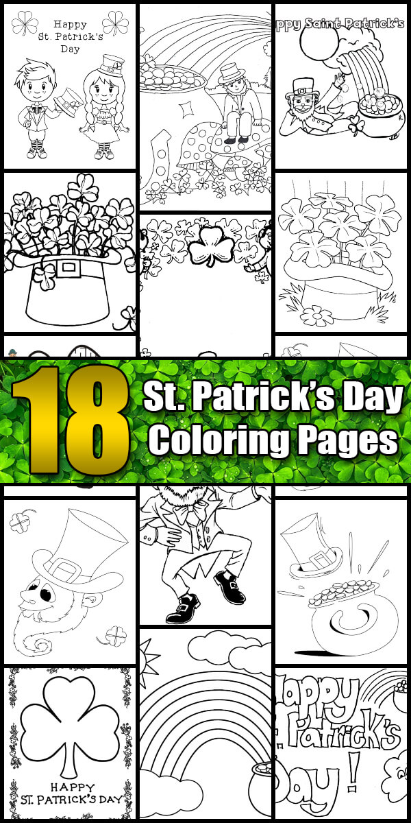 18 Printable St. Patrick's Day Coloring Pages - Holiday Vault #StPatricksDay