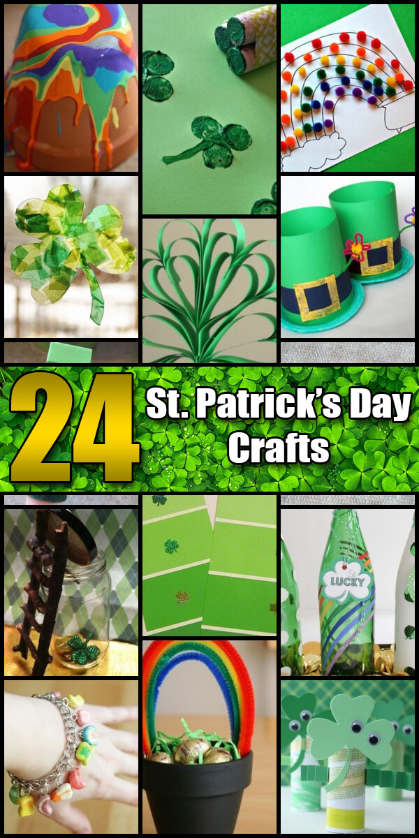 24 Fun St. Patrick's Day Crafts for Kids - Holiday Vault #StPatricksDay