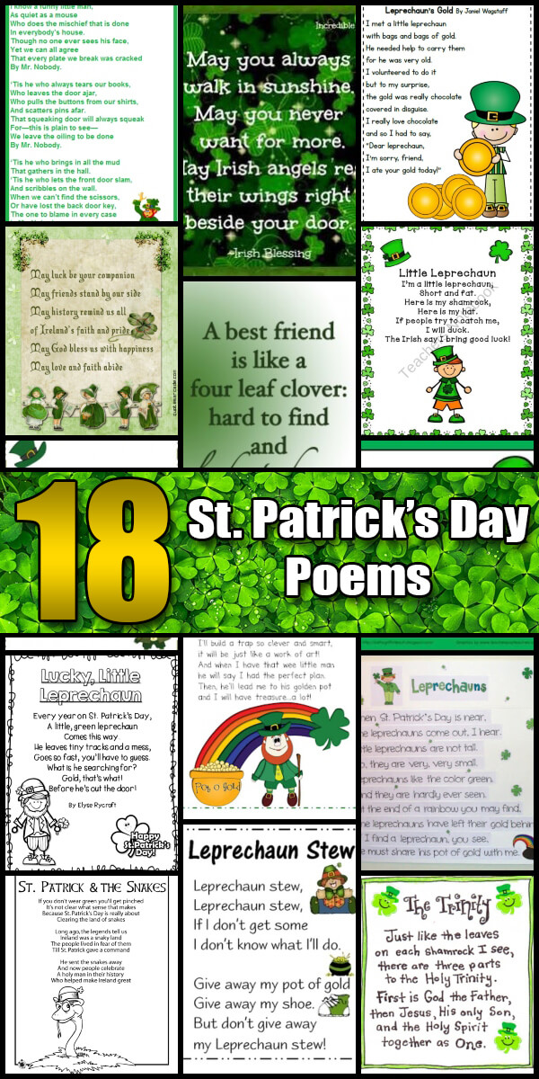 18 Merry St. Patrick's Day Poems - Holiday Vault #StPatricksDay
