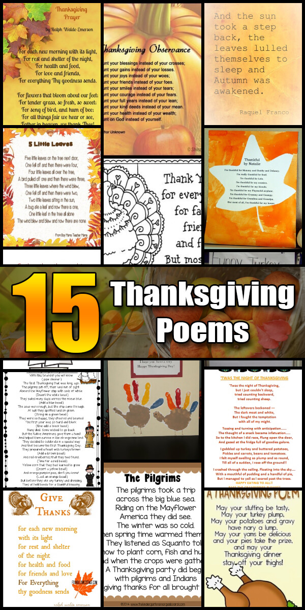 15 Heartwarming Thanksgiving Poems - Holiday Vault #Thanksgiving