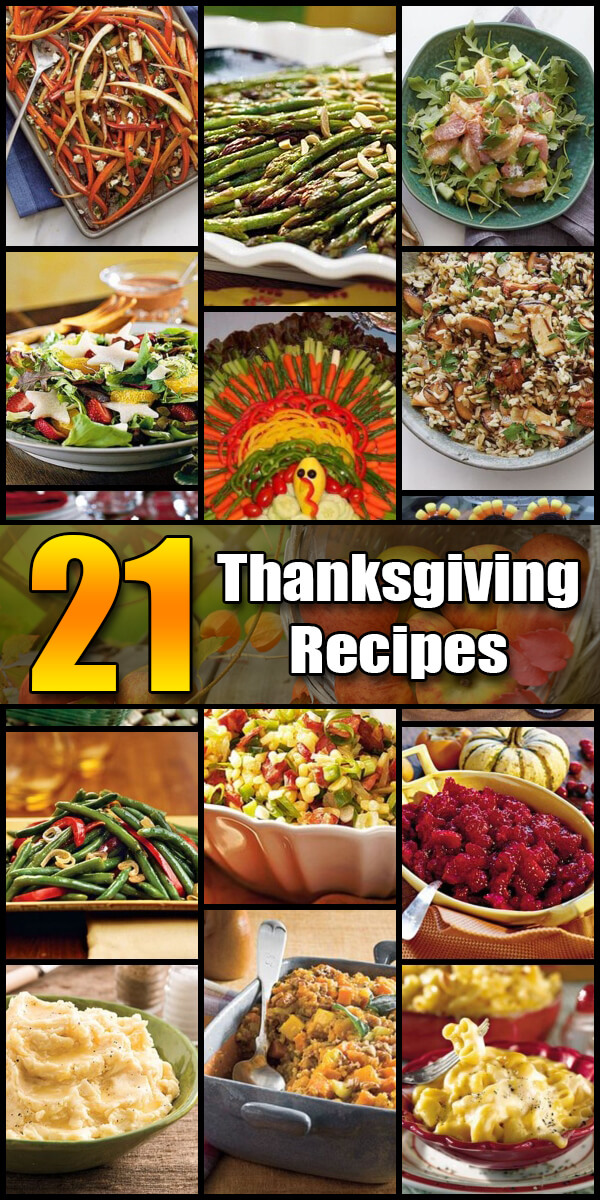 21 Tasty Thanksgiving Recipes - Holiday Vault #Thanksgiving