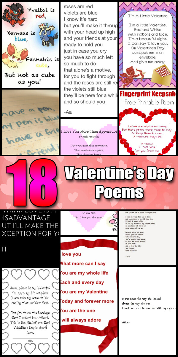 18 Romantic Valentine's Day Poems - Holiday Vault #ValentinesDay #ValentinesDayPoems
