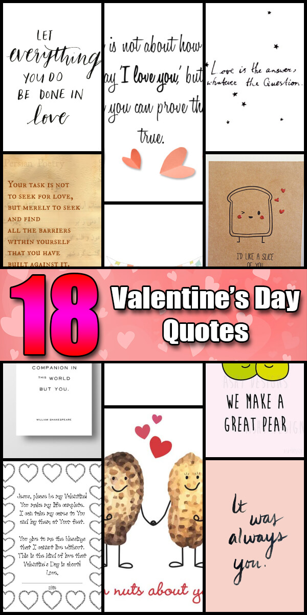 18 Cute and Funny Valentine's Day Quotes - Holiday Vault #ValentinesDay #ValentinesDayQuotes