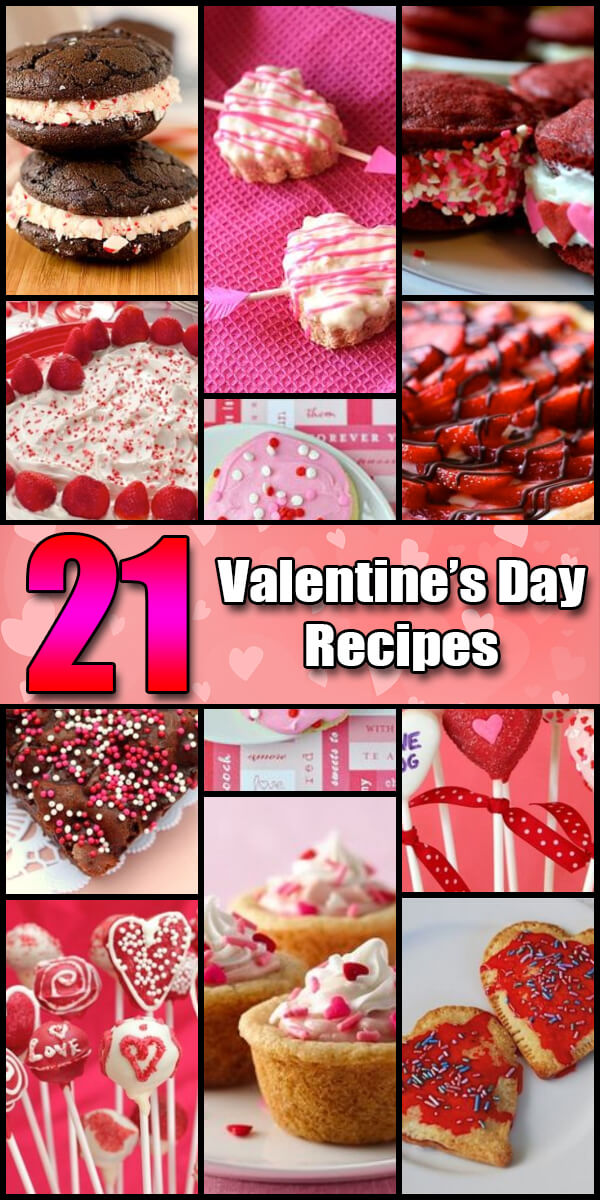21 Yummy Valentine's Day Recipes - Holiday Vault #ValentinesDay #ValentinesDayIdeas #ValentinesDayRecipes