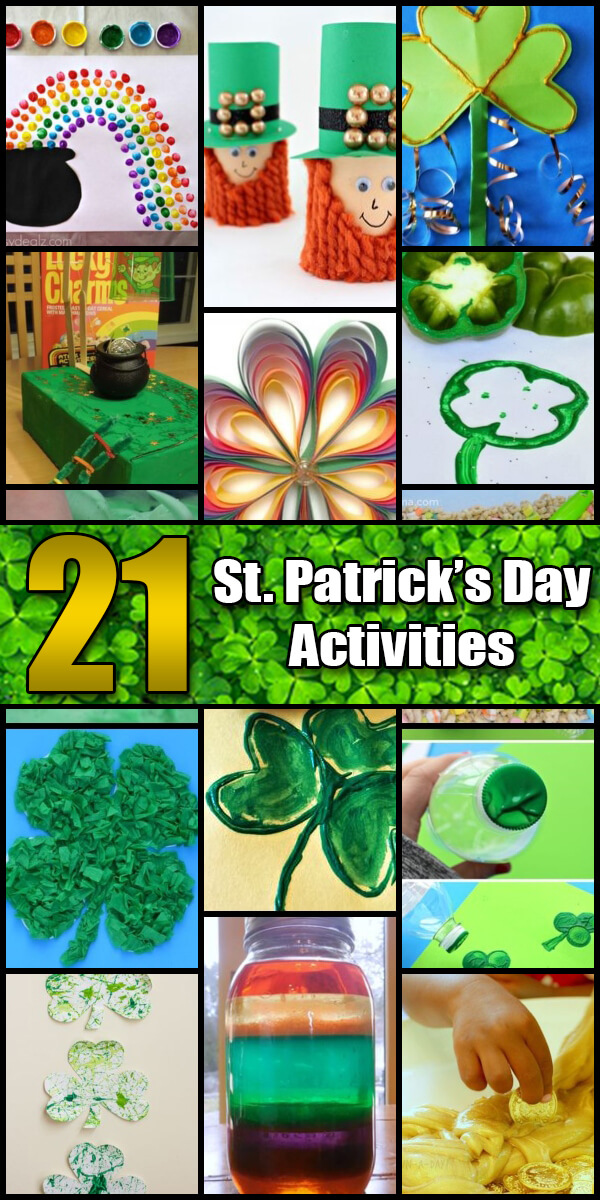 21 Fun St. Patrick's Day Activities for Kids - Holiday Vault #StPatricksDay