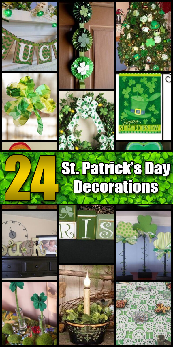 24 Lucky St. Patrick's Day Decorations - Holiday Vault #StPatricksDay #StPatricksDayDecorations